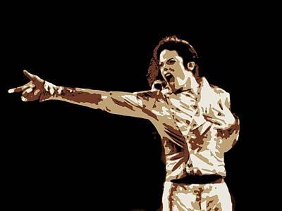 Jacko Painting - Michael Jackson Poster Art by Florian Rodarte