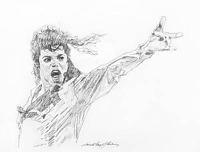 Michael Drawing - Michael Jackson Power Performance by David Lloyd Glover