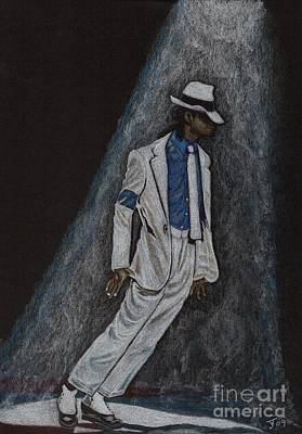 Drawing - Michael Jackson Smooth Criminal by Yvonne Johnstone