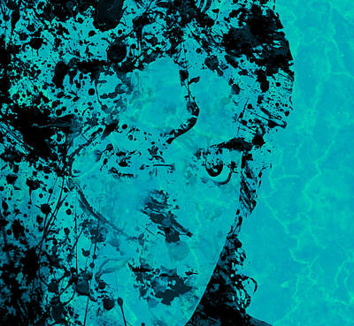 Michael Jackson Splats Art Print