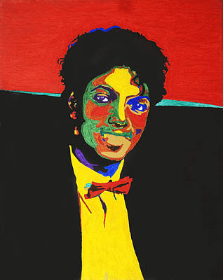 Mj Painting - Michael Jackson by Stormm Bradshaw
