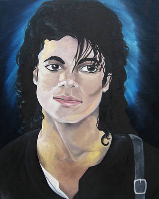 Michael Jackson Oil Painting - Michael Jackson by Victoria Dietz