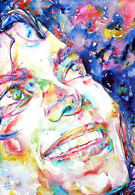 Michael Jackson Painting - Michael Jackson - Watercolor Portrait.13 by Fabrizio Cassetta