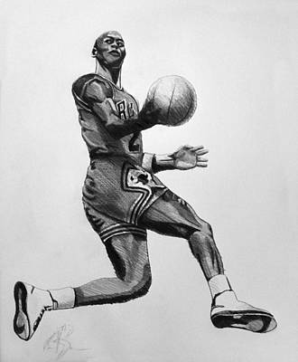 Michael Jordan Art Print by Adam Barone