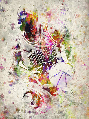 Nba Digital Art - Michael Jordan by Aged Pixel