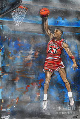 Michael Jordan Dunk Art Print
