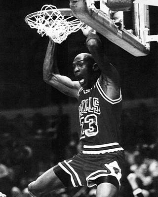 Michael Jordan Photograph - Michael Jordan Dunks by Retro Images Archive