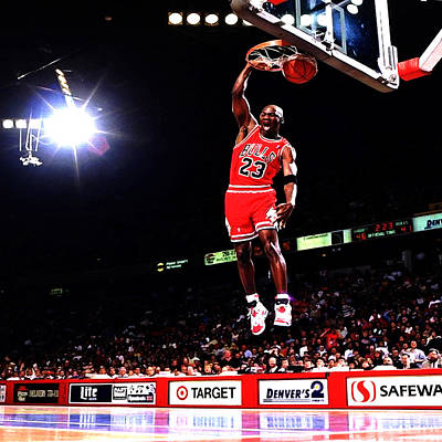 Mj Digital Art - Michael Jordan Fast Break by Brian Reaves