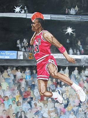 Michael Jordan Painting - Michael Jordan by Freda Nichols