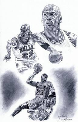 Michael Jordan Art Print by Jonathan Tooley