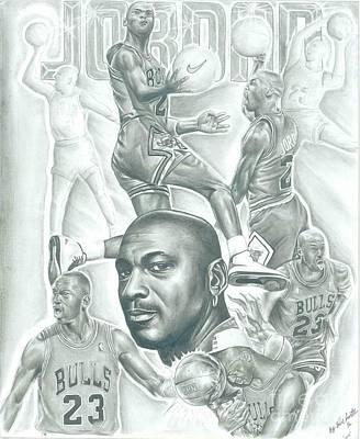 Jordan Drawing - Michael Jordan by Kobe Carter
