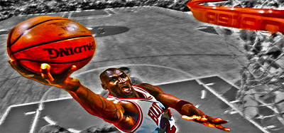 Michael Jordan Lift Off II Art Print by Brian Reaves