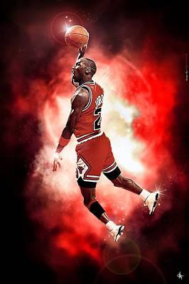 Michael Jordan Art Print by NIcholas Grunas Cassidy