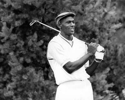 Charlotte Photograph - Michael Jordan Playing Golf by Retro Images Archive