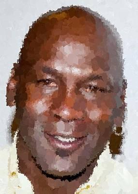 Michael Jordan Portrait Painting - Michael Jordan Portrait by Samuel Majcen