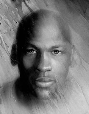 Michael Jordan Potrait Art Print by Angie Villegas