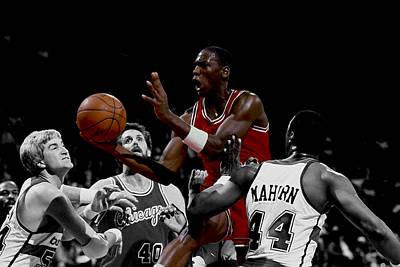 Patrick Ewing Digital Art - Michael Jordan Rookie Year by Brian Reaves