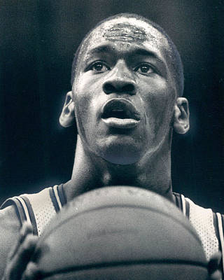 Air Jordan Photograph - Michael Jordan Shots Free Throw by Retro Images Archive