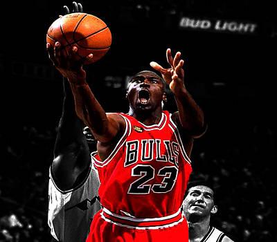 Utah Jazz Photograph - Michael Jordan Soft Touch by Brian Reaves