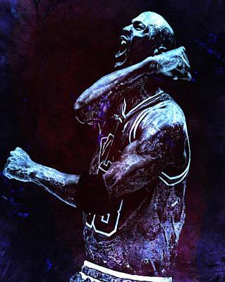 Mj Digital Art - Michael Jordan We Did It Again by Brian Reaves