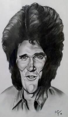 Drawing - Michael Landon 1 by Rob Hans