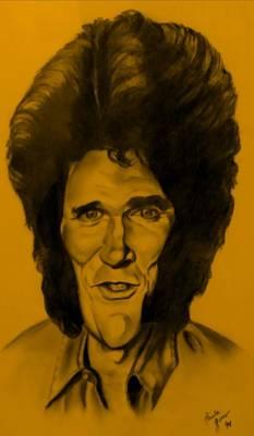 Drawing - Michael Landon Orange by Rob Hans