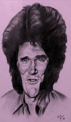 Drawing - Michael Landon Pink by Rob Hans