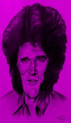 Drawing - Michael Landon Purple by Rob Hans