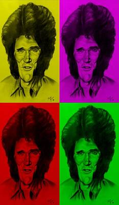 Drawing - Michael Landon Quad Colors by Rob Hans