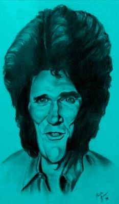 Drawing - Michael Landon Turquoise by Rob Hans