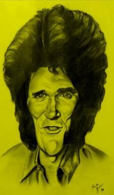 Drawing - Michael Landon Yellow by Rob Hans