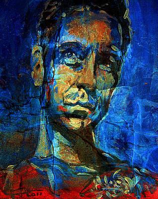 Mixed Media - Michael Scholl Portrait by Jim Vance