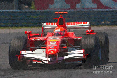 Open-wheel Photograph - Michael Schumacher Canadian Grand Prix I by Clarence Holmes