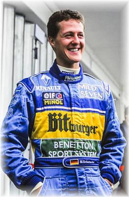 Benetton Wall Art - Photograph - Michael Schumacher by Jose Bispo