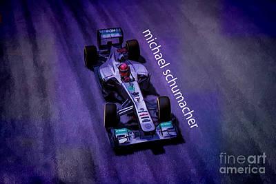 Michael Schumacher Art Print by Marvin Spates