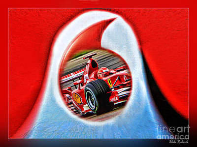Photograph - Michael Schumacher Though The Logo by Blake Richards