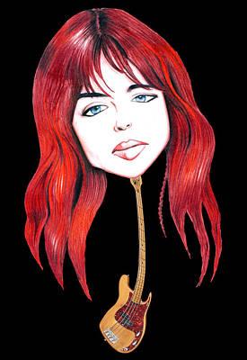 Michael Steele Musician Illustration Art Print by Diego Abelenda