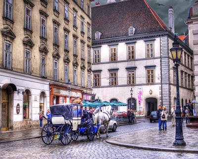 Horse And Buggy Photograph - Michaelerplatz. Vienna by Juli Scalzi