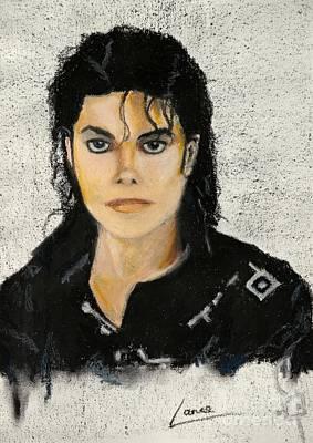 Painting - Michaeljacksoninoilpastel by Lance Sheridan-Peel