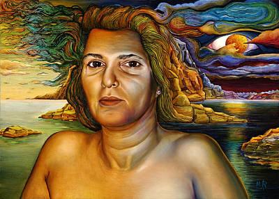 Moshe Painting - Michali  Part  Of  Nature by Moshe Rosental