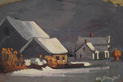 Painting - Michalski Farm by Len Stomski
