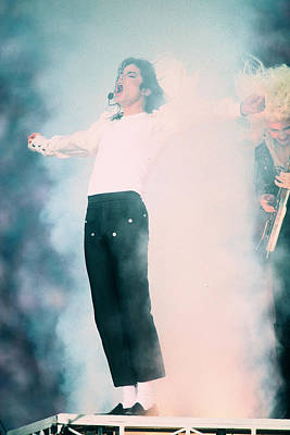 Michael Photograph - Micheal Jackson Performing On Stage by Retro Images Archive