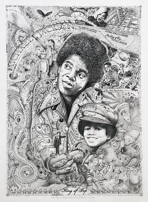 Art Of Soul Music Drawing - Jackson by Lance Graves