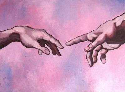 Michealangelo Hands 'creation' - A Study Art Print by Khairzul MG
