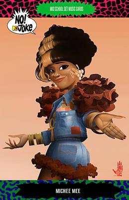 Dedos Digital Art - Michee Mee Ntv Card by Nelson Dedos Garcia