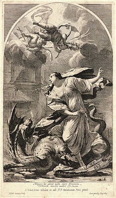 Michel Dorigny French, 1616-1665 After Simon Vouet French Art Print by Litz Collection
