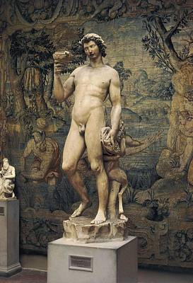 Bacchus Photograph - Michelangelo 1475-1564. Bacchus. 1496 - by Everett