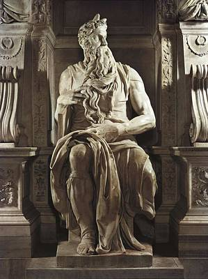 Michelangelo 1475-1564. Moses Art Print by Everett