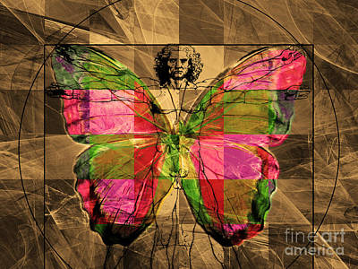 Moth Man Photograph - Leonardo Da Vinci Butterfly Man Dsc2969 V2 by Wingsdomain Art and Photography
