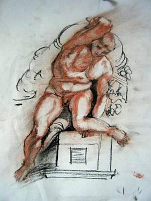 Michelangelo Study Art Print